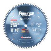 610801C Electro-Blu™ Carbide Tipped Prestige™ Fine Cut-Off and Crosscut 10 Inch Dia x 80T TCG, 10 Deg, 5/8 Bore, Non-Stick Coated