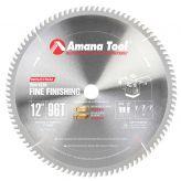 612960-TS Carbide Tipped Thin Kerf Miter 12 Inch Dia x 96T ATB, 10 Deg, 1 Inch Bore