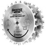 658060 Carbide Tipped Prestige Dado 8 Inch Dia x 24T H-ATB, 5/8 Bore, Complete Dado Set with Six 4-Wing Chippers