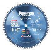 LB10801C Electro-Blu™ Carbide Tipped Prestige™ Non-Melt Plastic 10 Inch Dia x 80T M-TCG, -2 Deg, 5/8 Bore, Non-Stick Coated