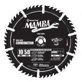 MA10050 Carbide Tipped Thin Kerf Combination Mamba Contractor Series 10 Inch Dia x 50T, 4+1, 15 Deg, 5/8 Bore Circular Saw Blade