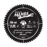 MA8560 Carbide Tipped Thin Kerf Fine Cut Mamba Contractor Series 8-1/2 Inch Dia x 60T, ATB+F, 8 Deg, 5/8 Bore Circular Saw Blade