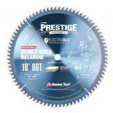 MB10800C Electro-Blu™ Carbide Tipped Prestige™ Double-Face Melamine 10 Inch Dia x 80T H-ATB, -6 Deg, 5/8 Bore, Non-Stick Coated