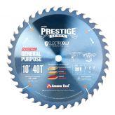 PR1040C Electro-Blu™ Carbide Tipped Prestige™ General Purpose 10 Inch Dia 40T ATB, 18 Deg, 5/8 Bore, Non-Stick Coated