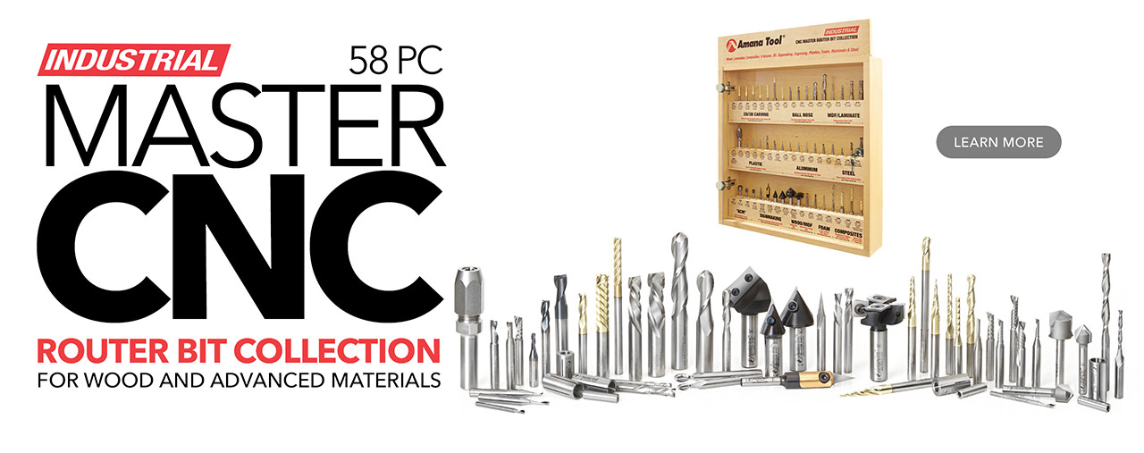 AMS-CNC-58 Master CNC Router Bit Collection, 58 PCS