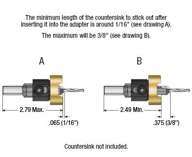 55246 minimum and maximum length of countersink