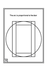 Once The Stiles And Rails Are Drawn In Just Add The Arch. I Used A Circle  With A Diameter To Match The Door Height (drawing B).