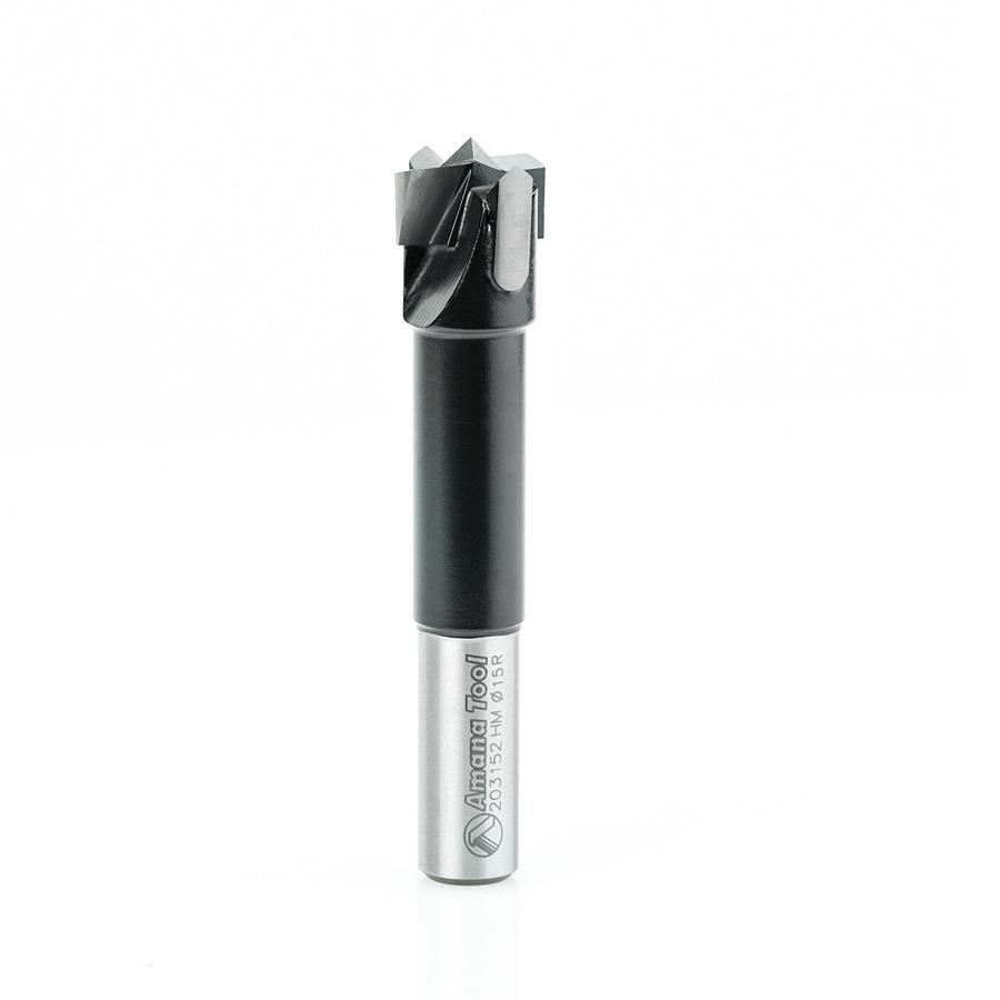 203152 Carbide Tipped Hinge Boring Bit R/H 15mm Dia x 70mm Long x 10mm Shank