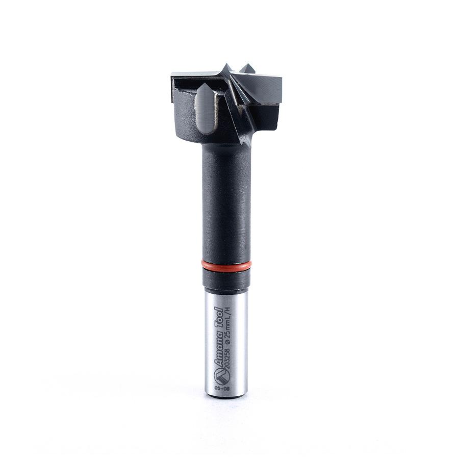 203258 Carbide Tipped Hinge Boring Bit L/H 25mm Dia x 77mm Long x 10mm Shank