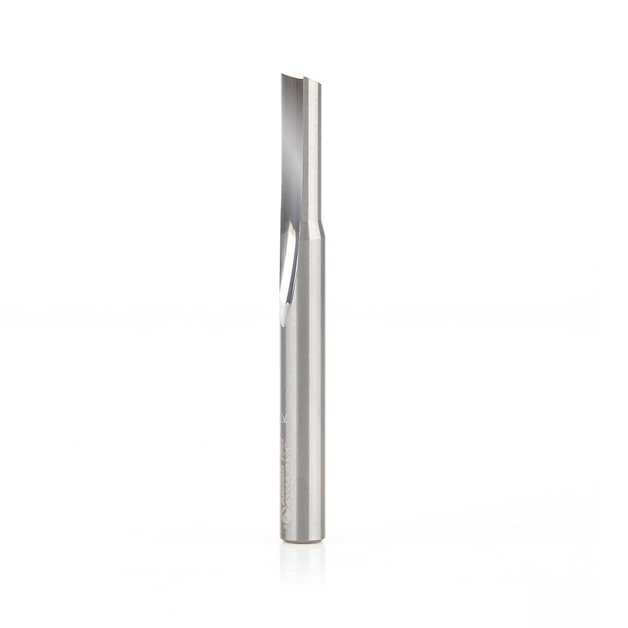 43534 Solid Carbide Single 'O' Flute Straight Grind Aluminum Cutting 1/4 Dia x 3/4 x 1/4 Inch Shank