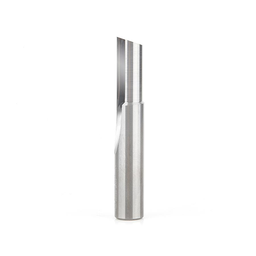 43539 Solid Carbide Single 'O' Flute Straight Grind Aluminum Cutting 1/2 Dia x 1 x 1/2 Inch Shank