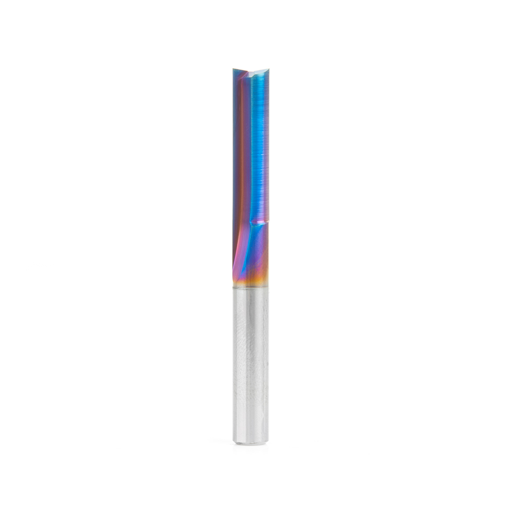43608-K Solid Carbide Spektra™ Extreme Tool Life Coated Double Straight 'V' Flute, Plastic Cutting 1/4 Dia x 1 x 1/4 Inch Shank
