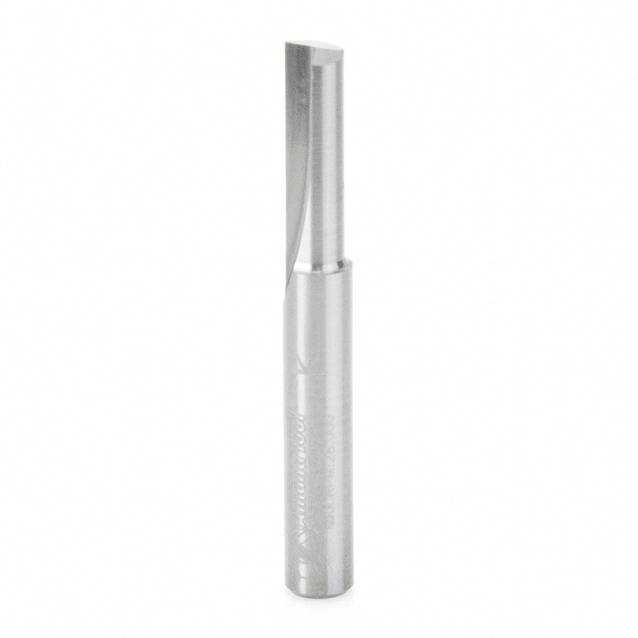 43716 Solid Carbide Single Flute Straight Plunge 1/4 Dia x 3/4 x 1/4 Inch Shank
