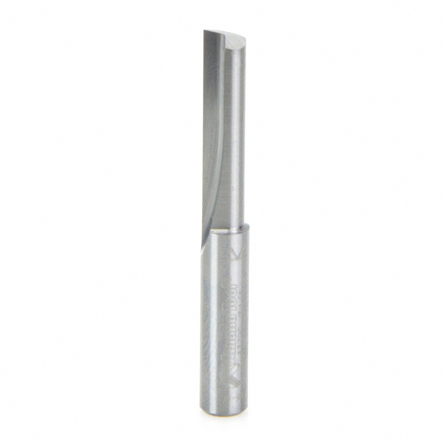 43720 Solid Carbide Single Flute Straight Plunge 1/4 Dia x 1 Inch x 1/4 Shank