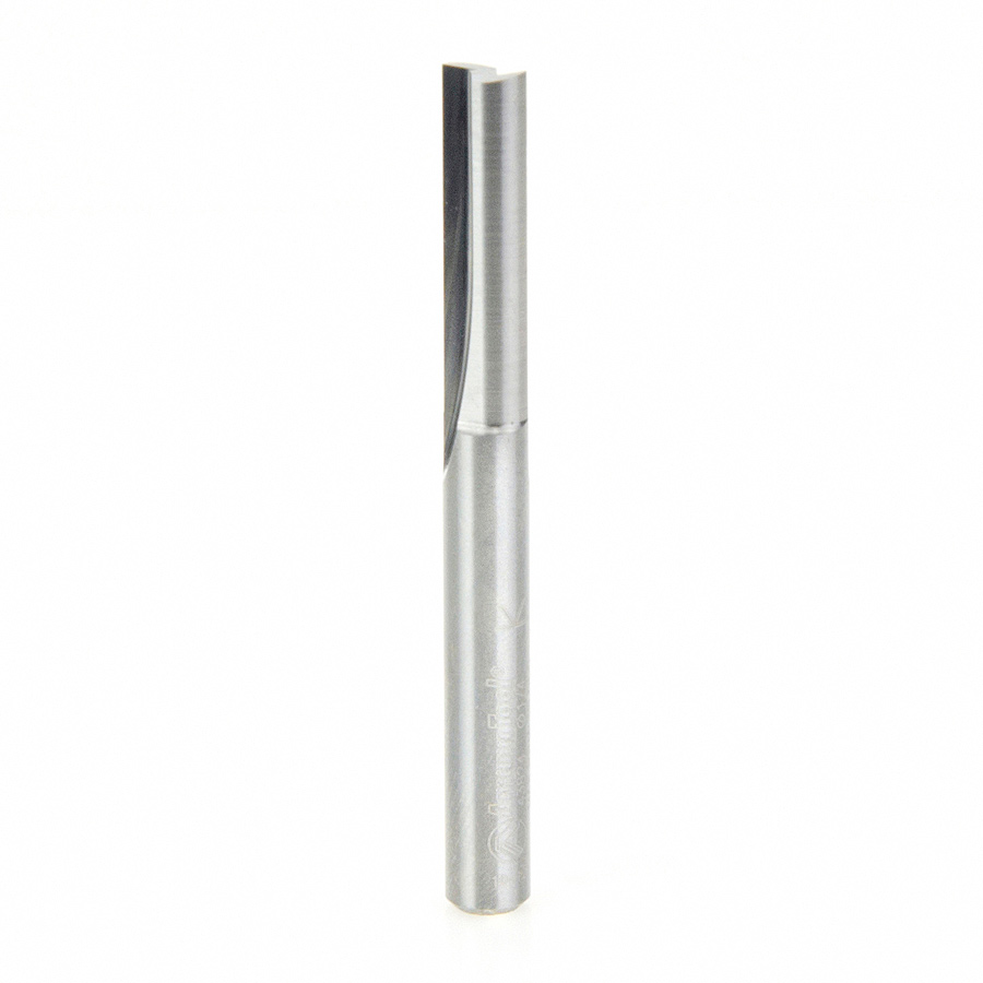 43824 Solid Carbide Straight Plunge 1/4 Dia x 1 Inch x 1/4 Shank Router Bit