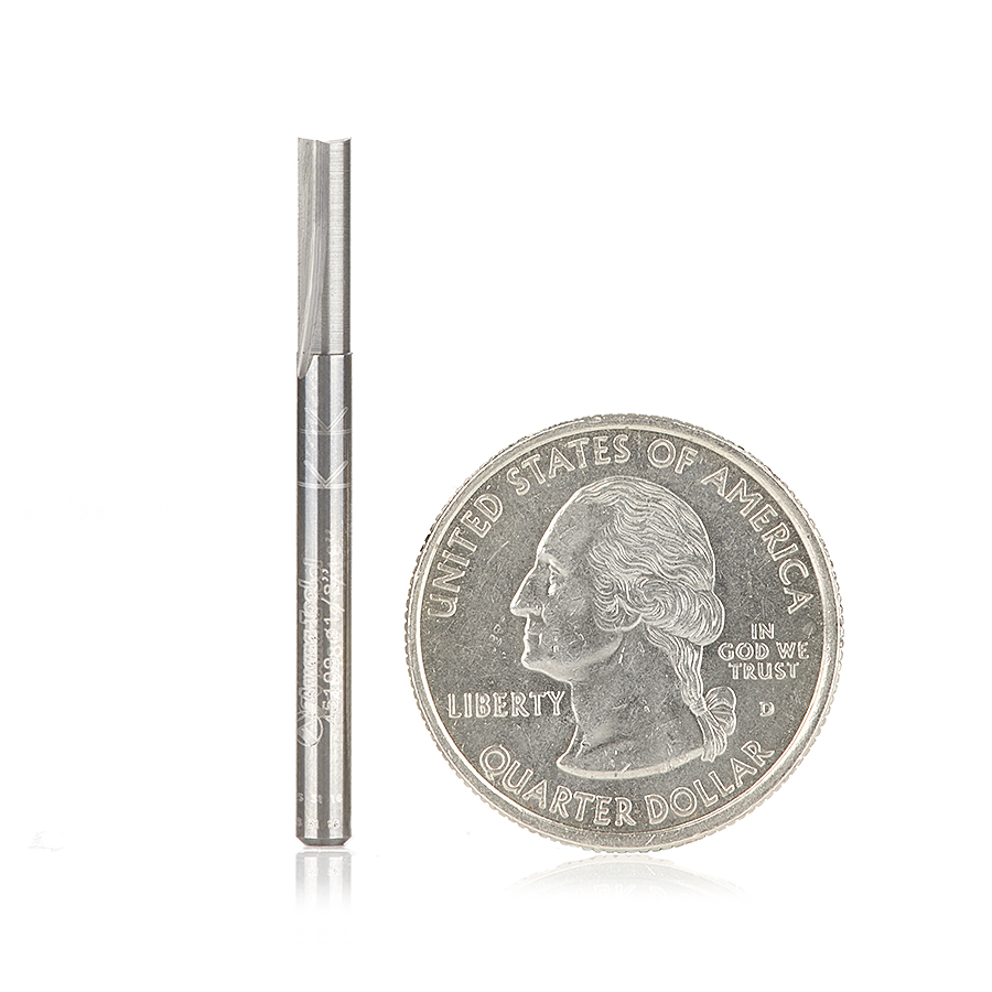 45199 Solid Carbide Straight Plunge High Production 1/8 Dia x 7/16 x 1/8 inch Shank Router Bit