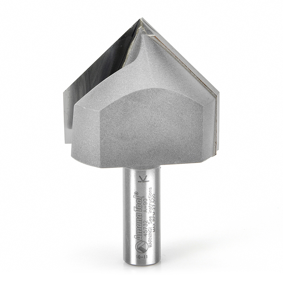 45732 Carbide Tipped V-Groove 90 Deg x 2 Inch Dia x 1 x 1/2 Shank