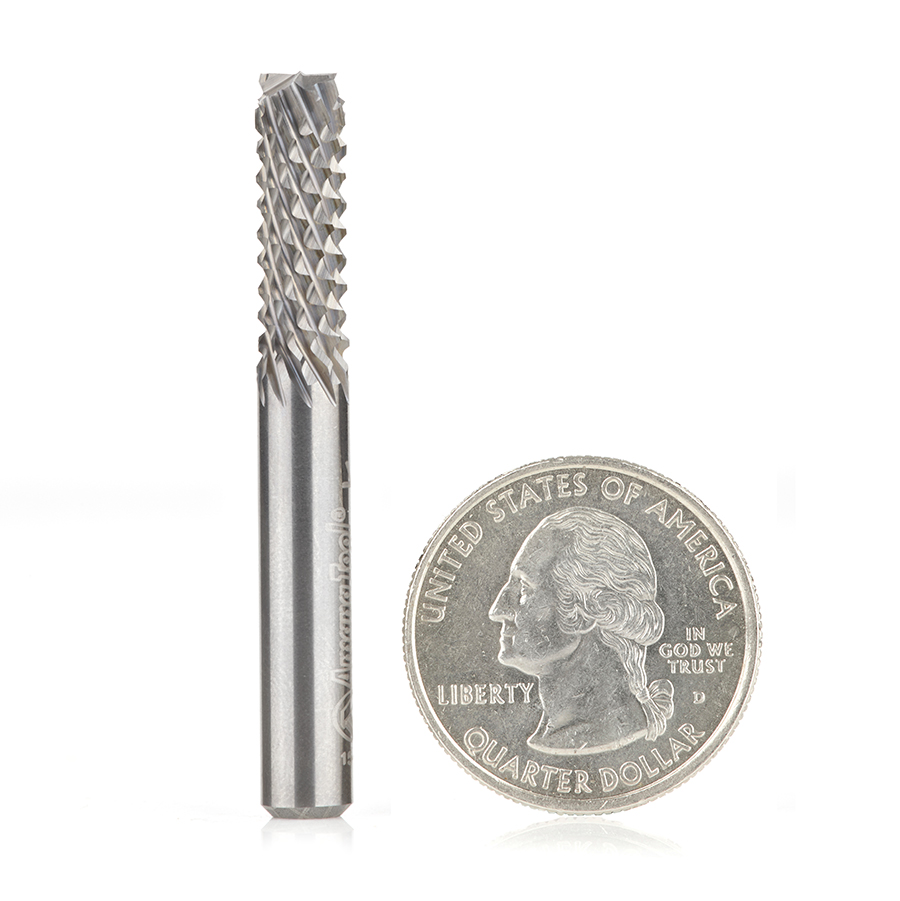 46099 End Mill Point Diamond Pattern Composite Cutting 1/4 Dia x 3/4 x 1/4 Inch Shank