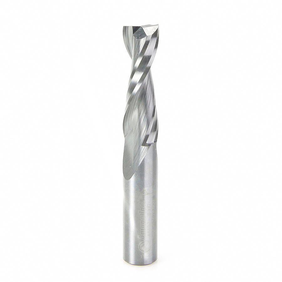 46107 Solid Carbide Spiral Plunge 1/2 Dia x 1-5/8 x 1/2 Inch Shank Up-Cut