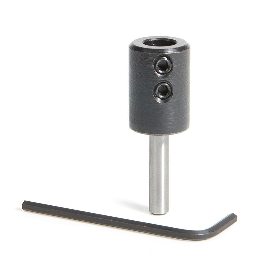 47636 10mm Shank Dowel Drill/Boring Bit Adapter for CNC Standard Collet/Tool Holder