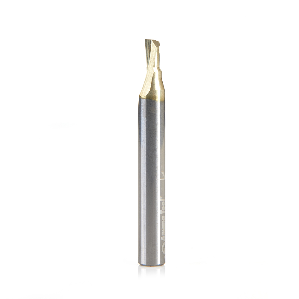 51450 Soft Aluminum Cutting 3/16 Dia x 1/4 x 1/4 Shank Single Flute Up-Cut (Up Shear) Solid Carbide ZrN Coated
