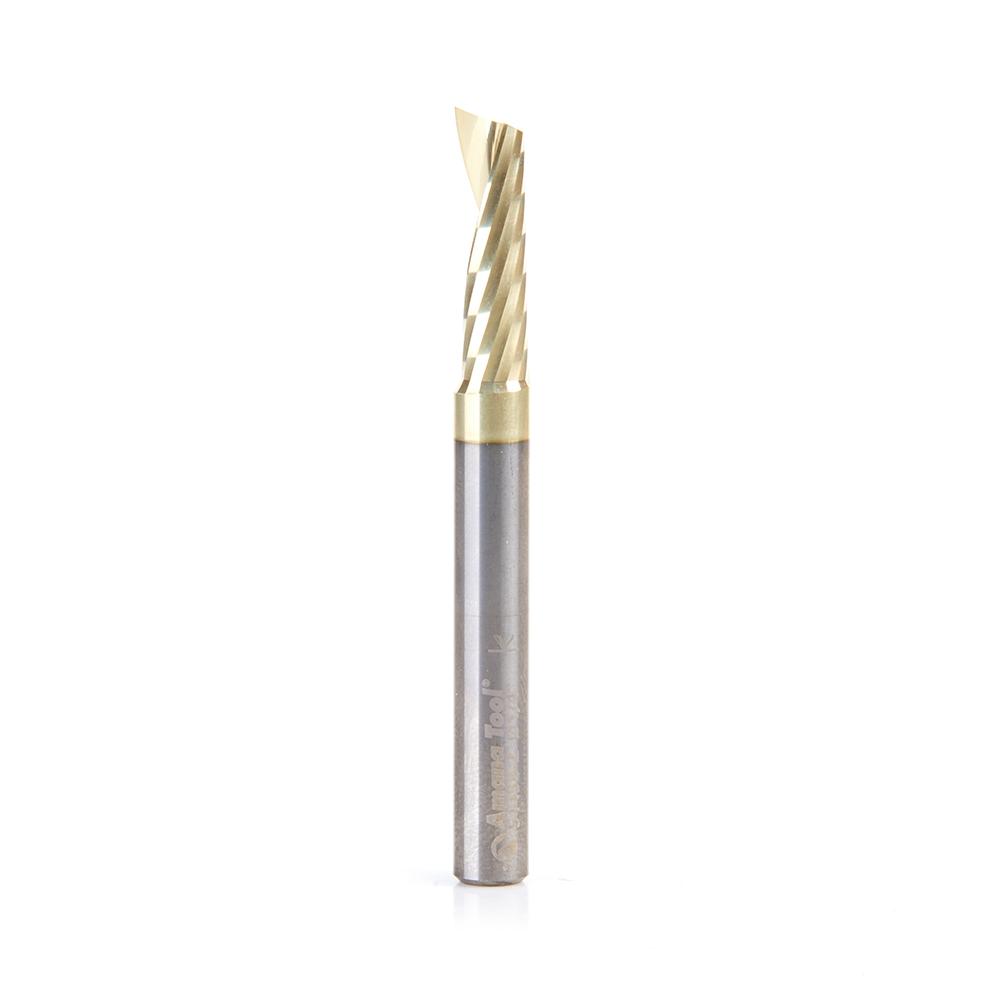51458-Z Solid Carbide CNC Spiral 'O' Flute, Aluminum Cutting 1/4 Dia x 7/8 x 1/4 Shank Up-Cut ZrN Coated Router Bit