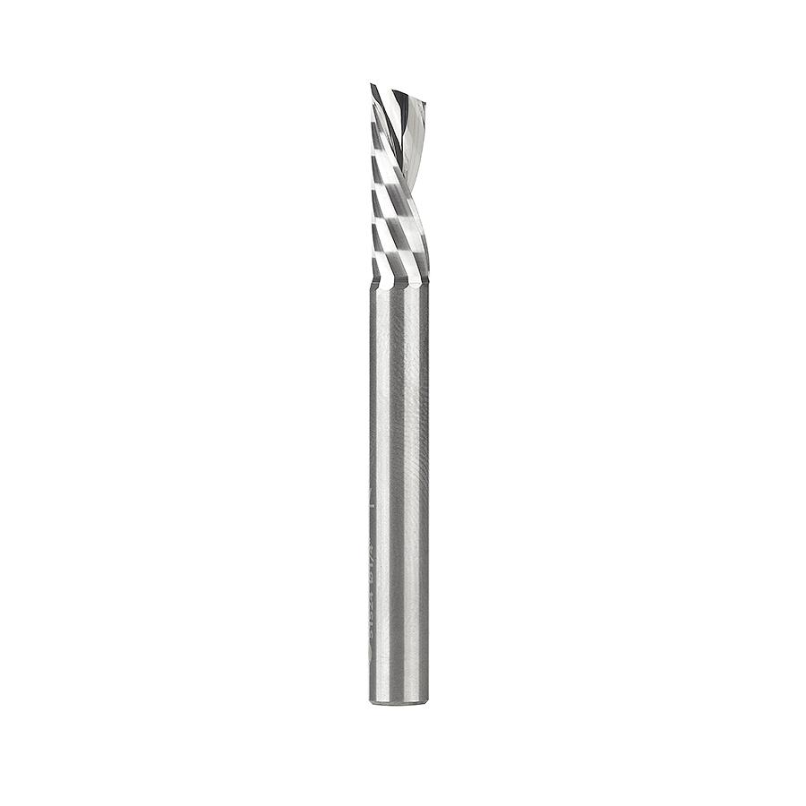 51524 Solid Carbide CNC Spiral 'O' Flute, Plastic Cutting 1/4 Dia x 3/4 x 1/4 Inch Shank Down-Cut