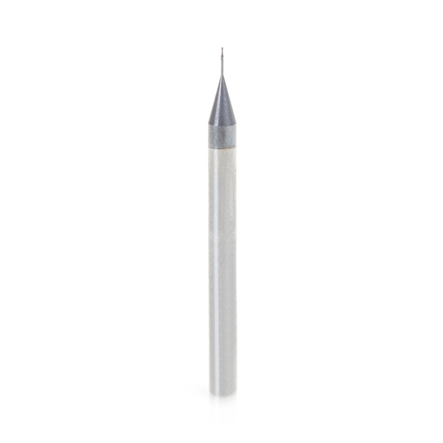 51660 AlTiN Coated CNC Steel, Stainless Steel & Composite Square Mini End Mill 0.010 Dia x 0.030 x 1/8 Shank