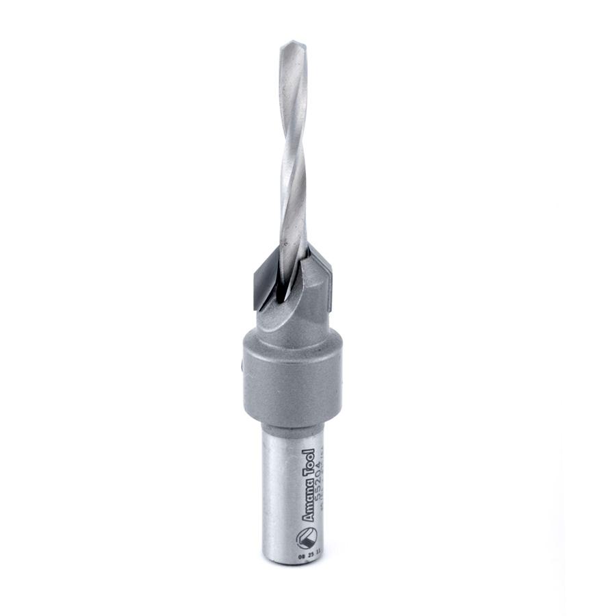 55204 Carbide Tipped 82 Degree Countersink #6 Screw 25/64 Dia x 9/64 Drill Dia x 5/16 Round Shank