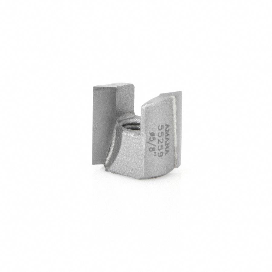 55259 Carbide Tipped Mortising Screw Down Shear Cutter 5/8 Dia x 9/16 Inch x 1/4 - 28 Thread