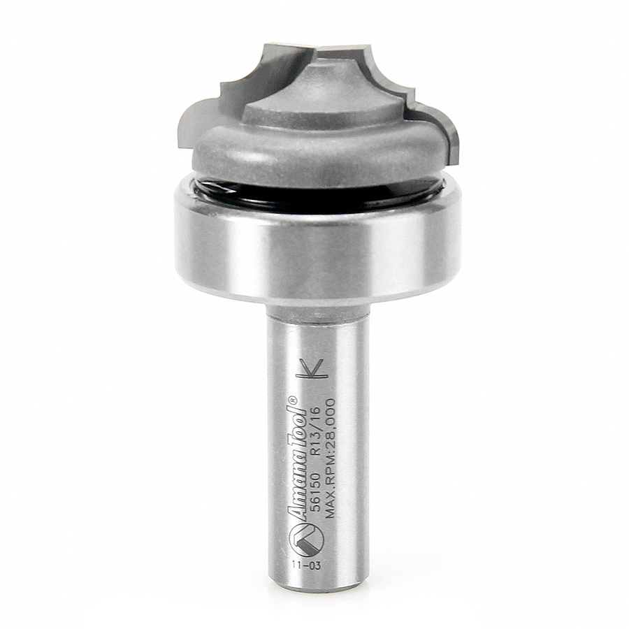 56150 Carbide Tipped Classical Plunge with Upper BB 13/64 Radius x 1-3/8 Dia x 9/16 x 1/2 Inch Shank