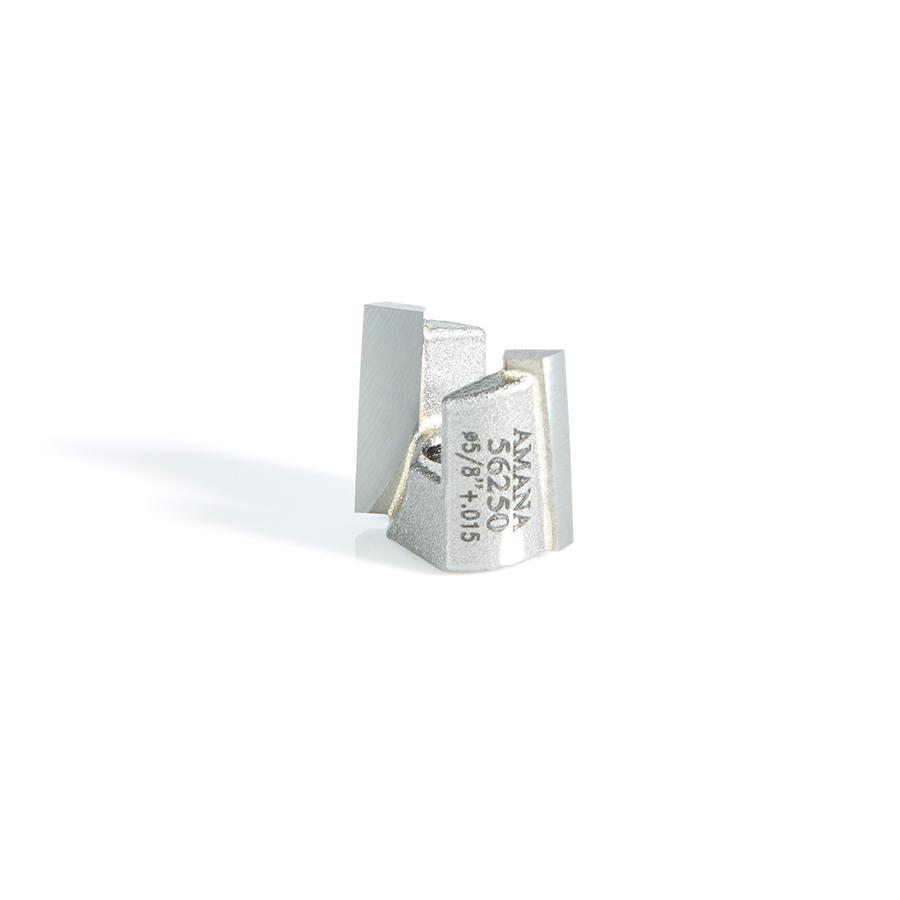 56250 Carbide Tipped Mortising Screw Down Shear Cutter 5/8 + 0.015 Dia x 9/16 Inch x 1/4 - 28 Thread