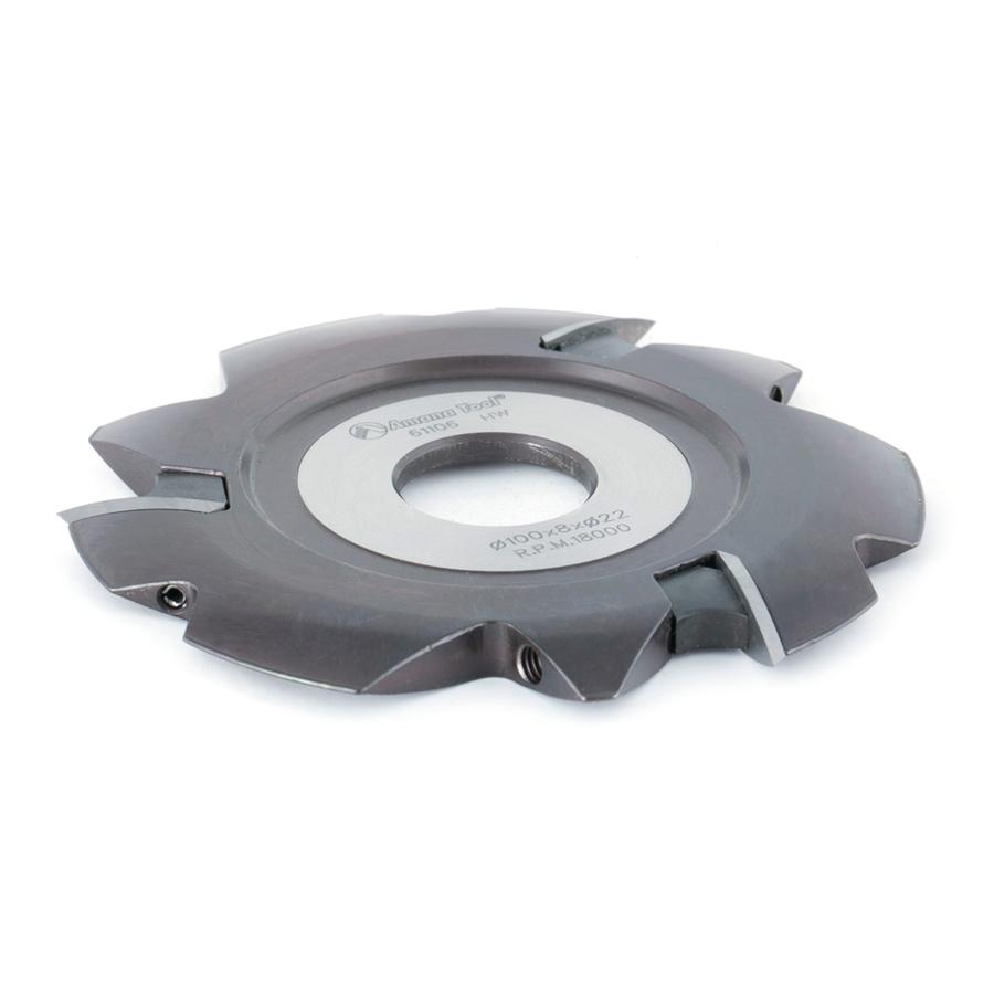 61106 Insert Carbide Lamello Resin Pocket 100mm Dia x 8mm x 22mm Bore