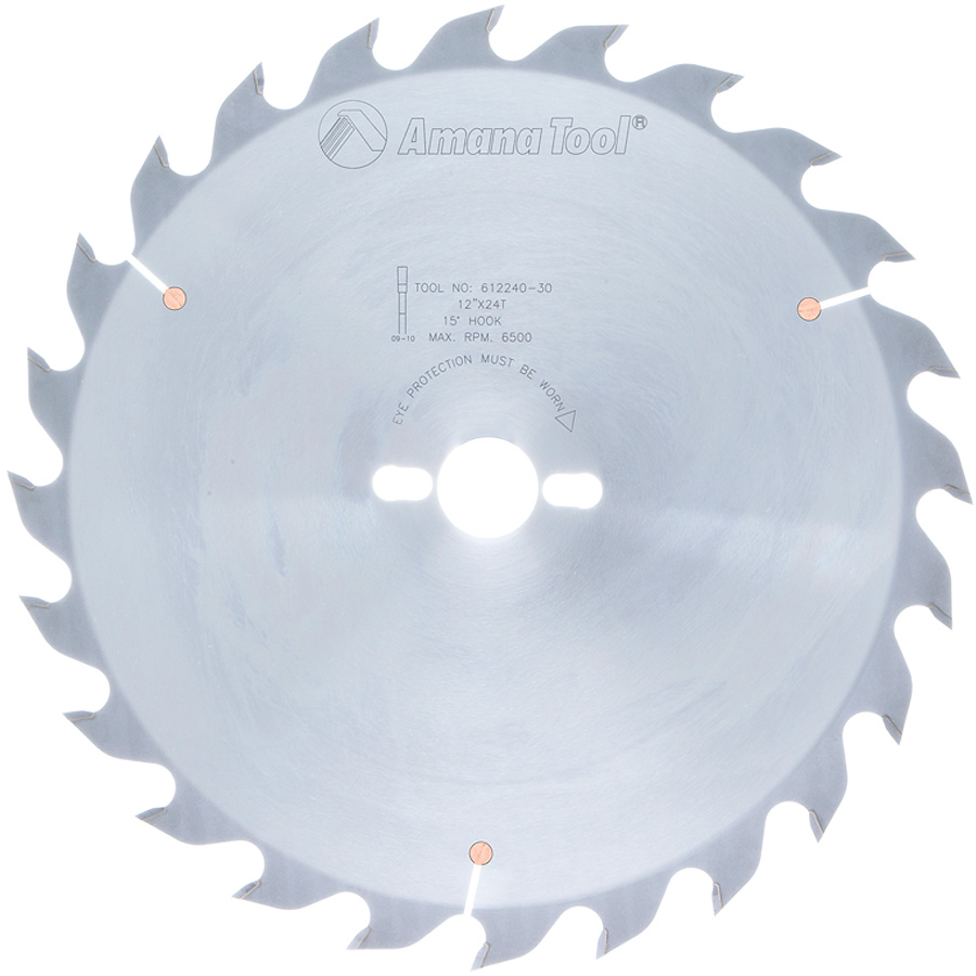 612240-30 Carbide Tipped Ripping Standard 12 Inch Dia x 24T FT, 18 Deg, 30mm Bore