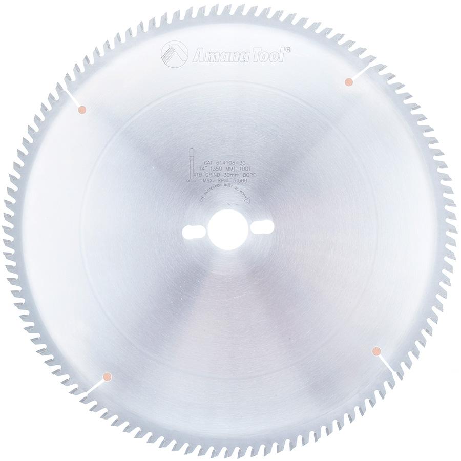 614108-30 Carbide Tipped Trim 14 Inch Dia x 108T ATB, 10 Deg, 30mm Bore