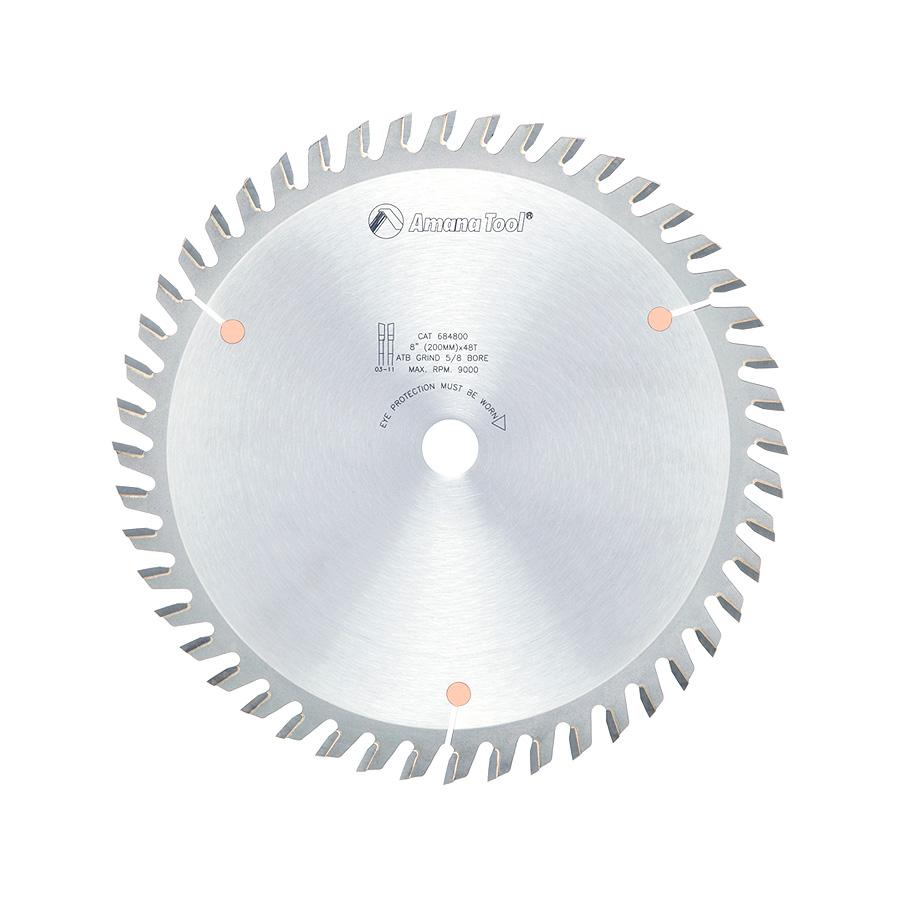 684800 Carbide Tipped Cut-Off and Crosscut 8 Inch Dia x 48T ATB, 10 Deg, 5/8 Bore