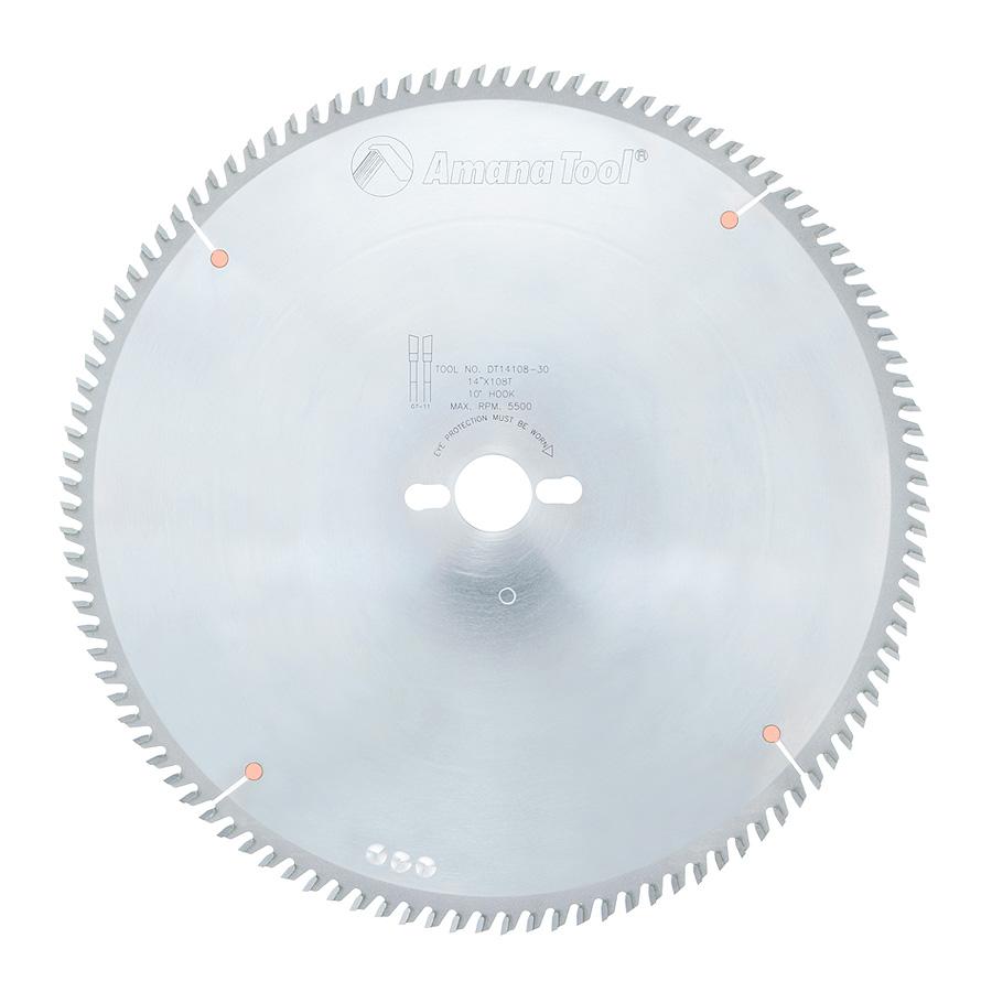 DT14108-30 Carbide Tipped Sliding Table Saw 14 Inch Dia x 108T ATB, 10 Deg, 30mm Bore