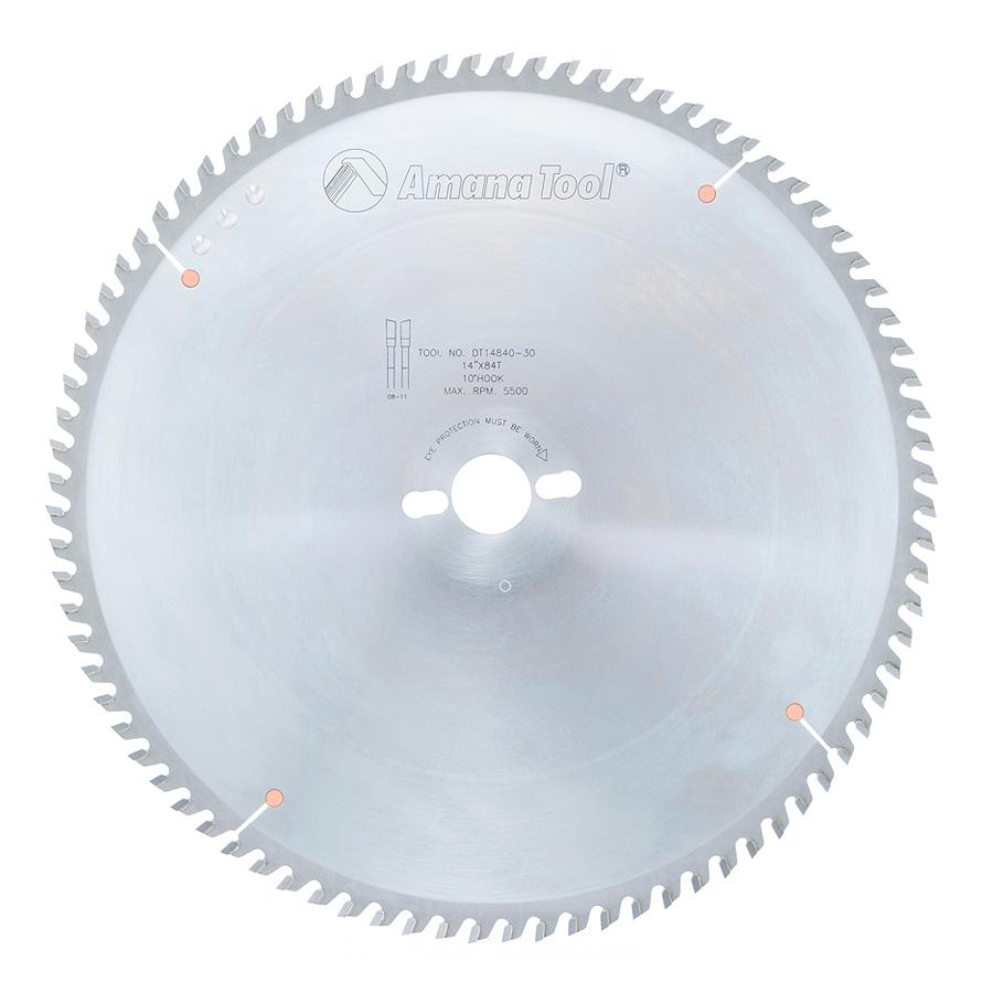 DT14840-30 Carbide Tipped Sliding Table Saw 14 Inch Dia x 84T ATB, 10 Deg, 30mm Bore