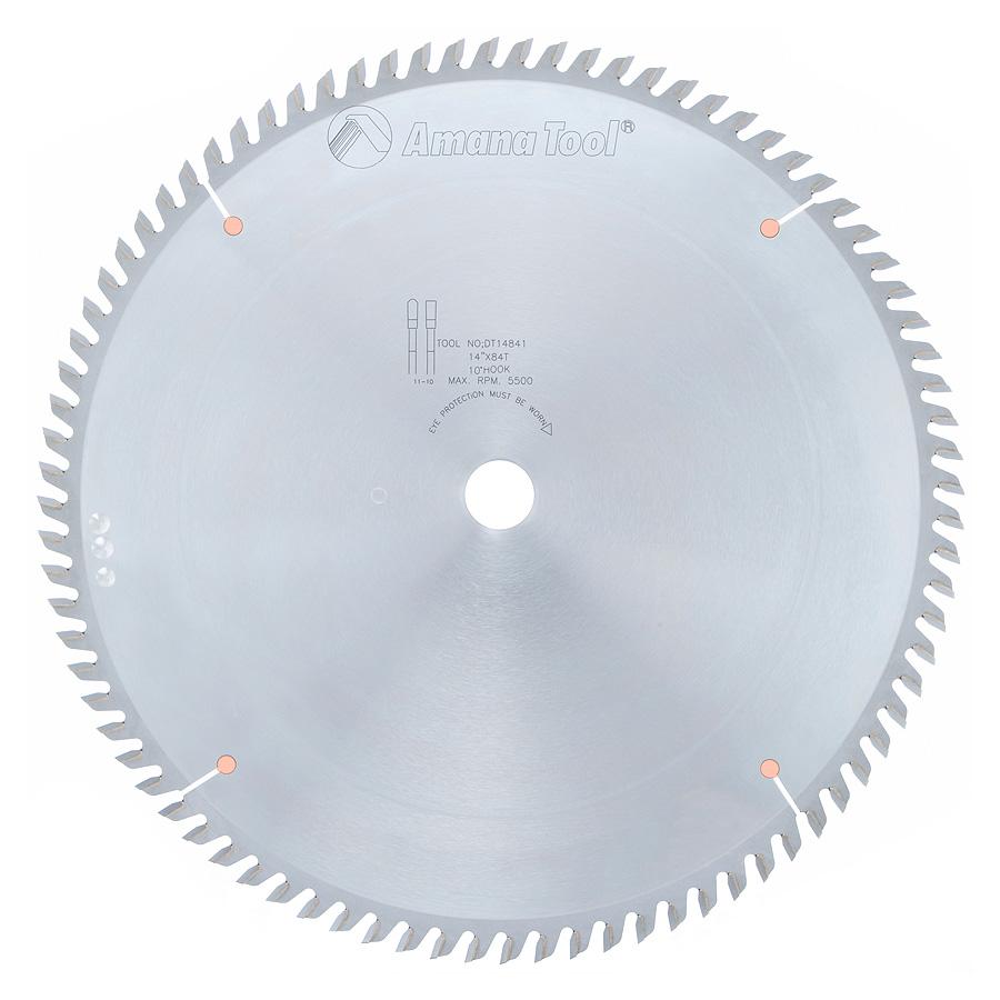 DT14841 Carbide Tipped Sliding Table Saw 14 Inch Dia x 84T TCG, 10 Deg, 1 Inch Bore