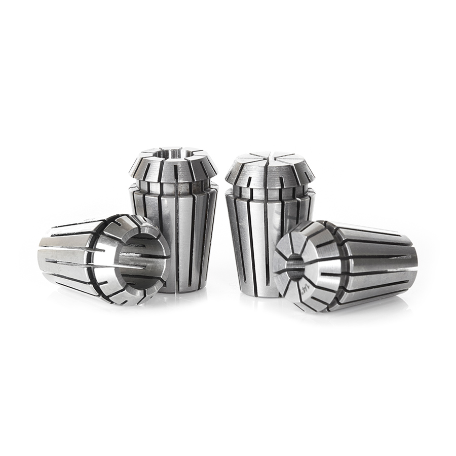 CO-ER20 4-Pc CNC High Precision 1/8, 1/4, 3/8 & 1/2 Inch Dia x 32mm Long Spring Collet Collection for ER20 Tool Holder