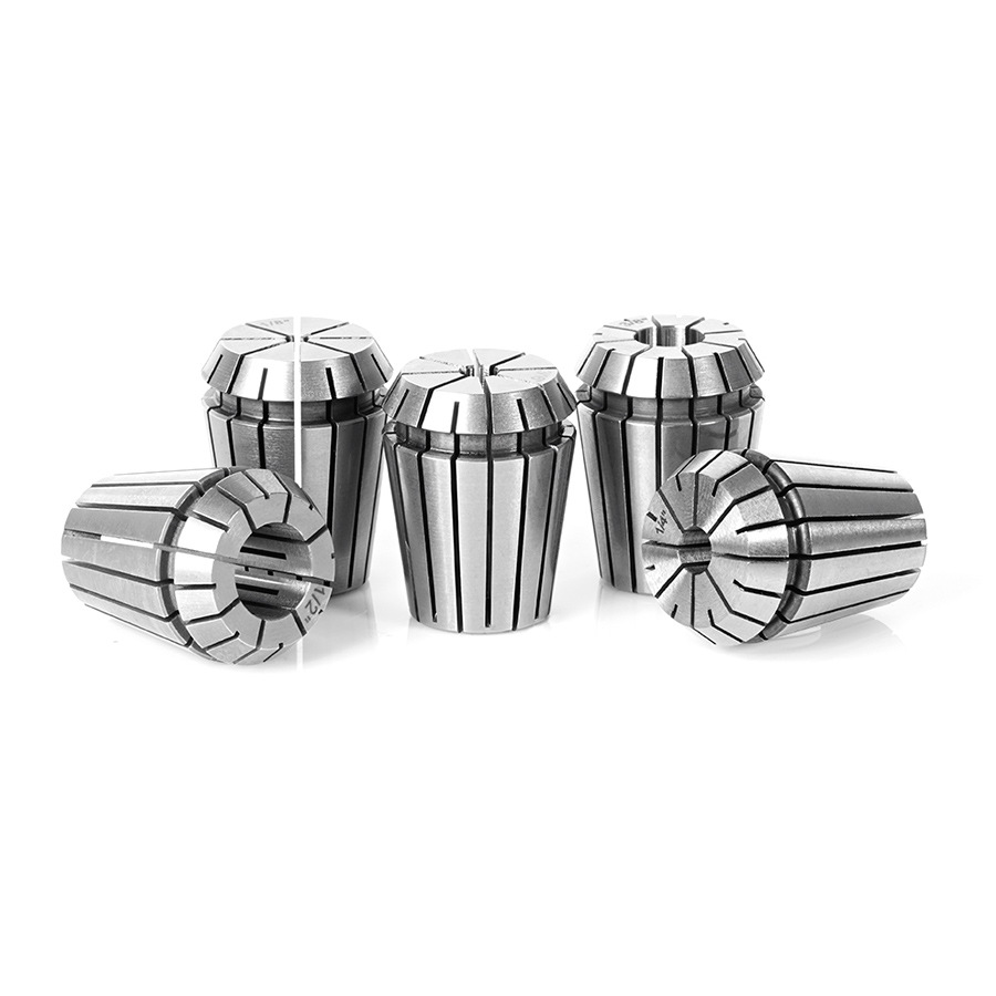 CO-ER25 5-Pc CNC High Precision 1/8, 3/16, 1/4, 3/8 & 1/2 Inch Dia x 34mm Long Spring Collet Collection for ER25 Tool Holder