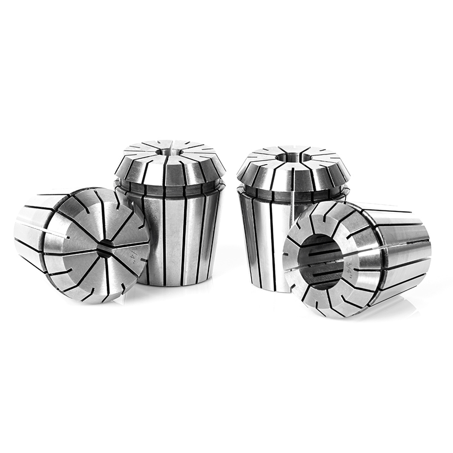 CO-ER40 4-Pc CNC High Precision CNC 1/4, 3/8, 1/2 & 3/4 Inch Dia x 46mm Long Spring Collet Collection for ER40 Tool Holder