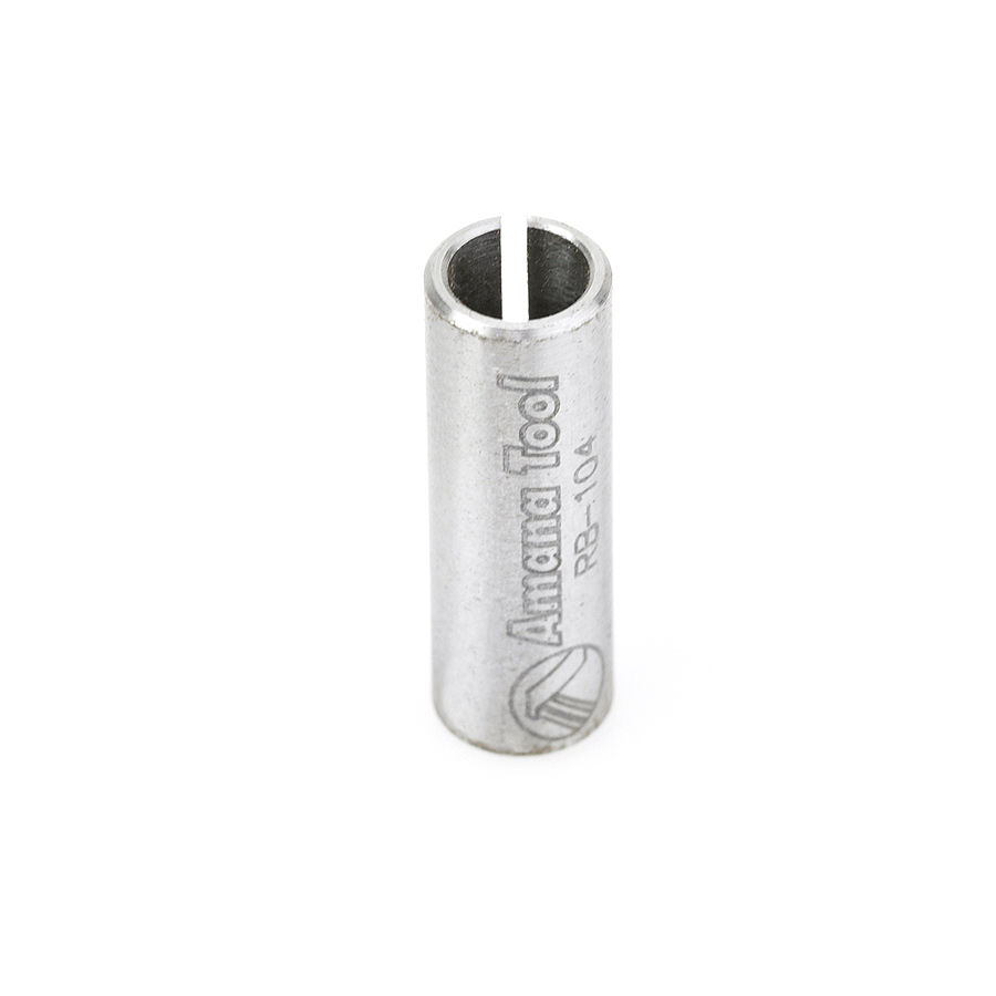 RB-104 High Precision Steel Router Collet Reducer 8mm Overall Dia x 6mm Inner Dia x 1 Inch Long