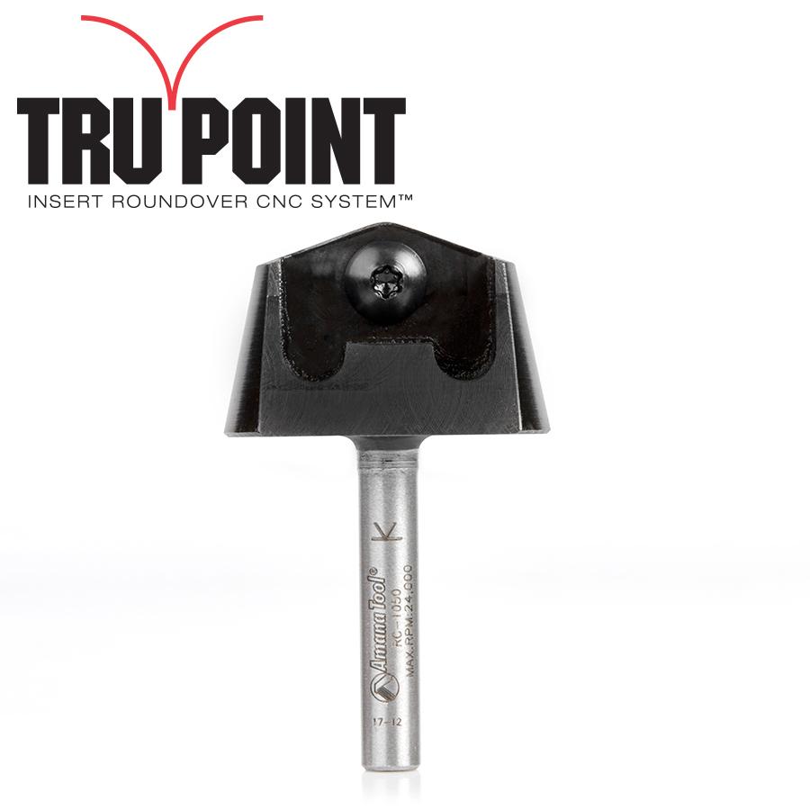 RC-1050 Tru Point Roundover Insert CNC System Tool Body 1/4 Inch Shank