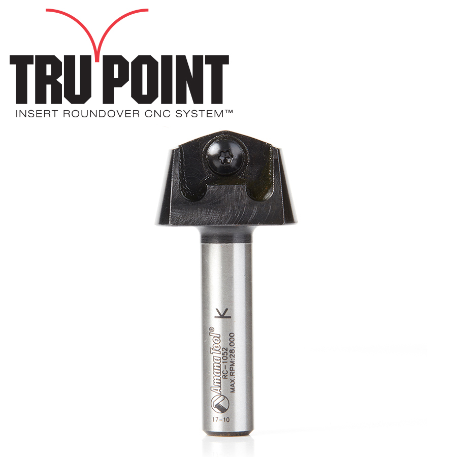 RC-1052 Tru Point Roundover Insert CNC System Tool Body 1/2 Inch Shank