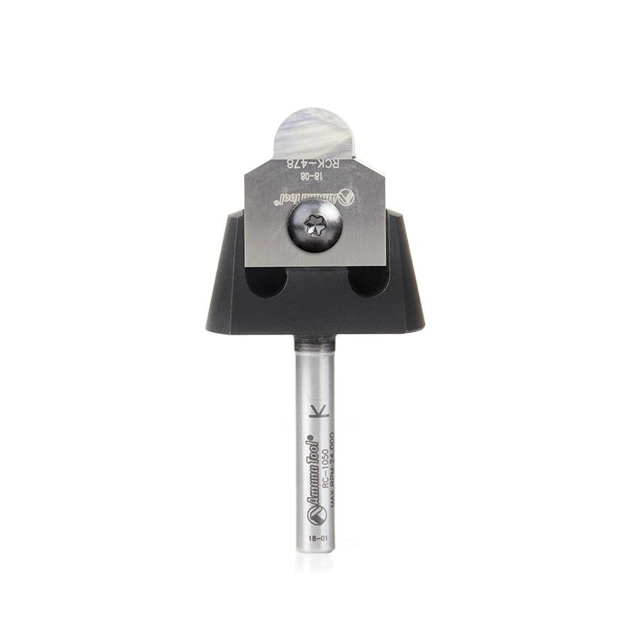 RC-1096 Tru Point Ball Nose Insert CNC System 1/4 Radius x 7/8 Dia x 5/16 x 1/4 Inch Shank Router Bit