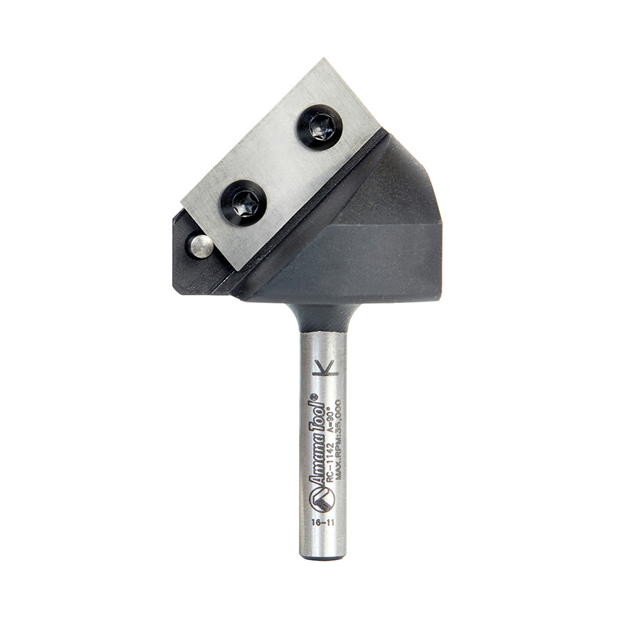 RC-1142 Insert V-Groove 90 Deg x 3/4 x 1/4 Inch Shank CNC Router Bit