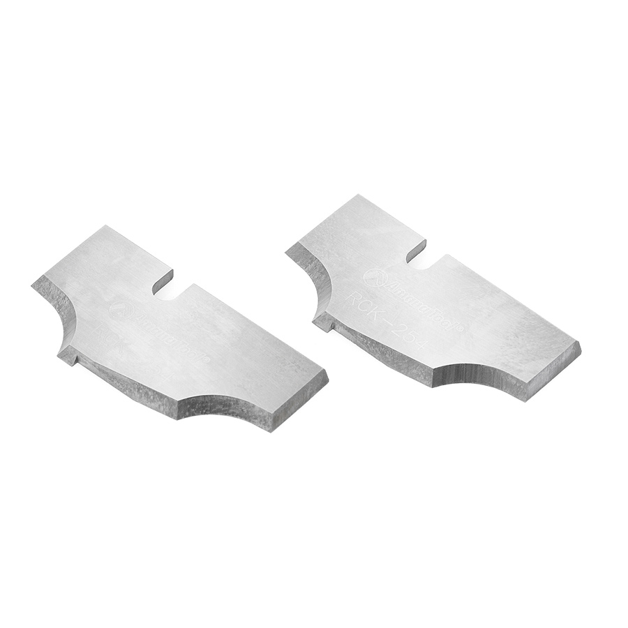RCK-254 Pair of Insert Cabinet Door Edge Solid Carbide Insert Knives for RC-2120