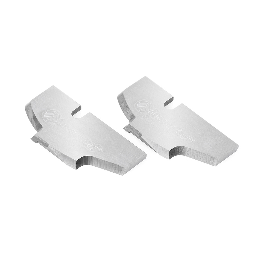 RCK-256 Pair of Insert Cabinet Door Edge Solid Carbide Insert Knives for RC-2120