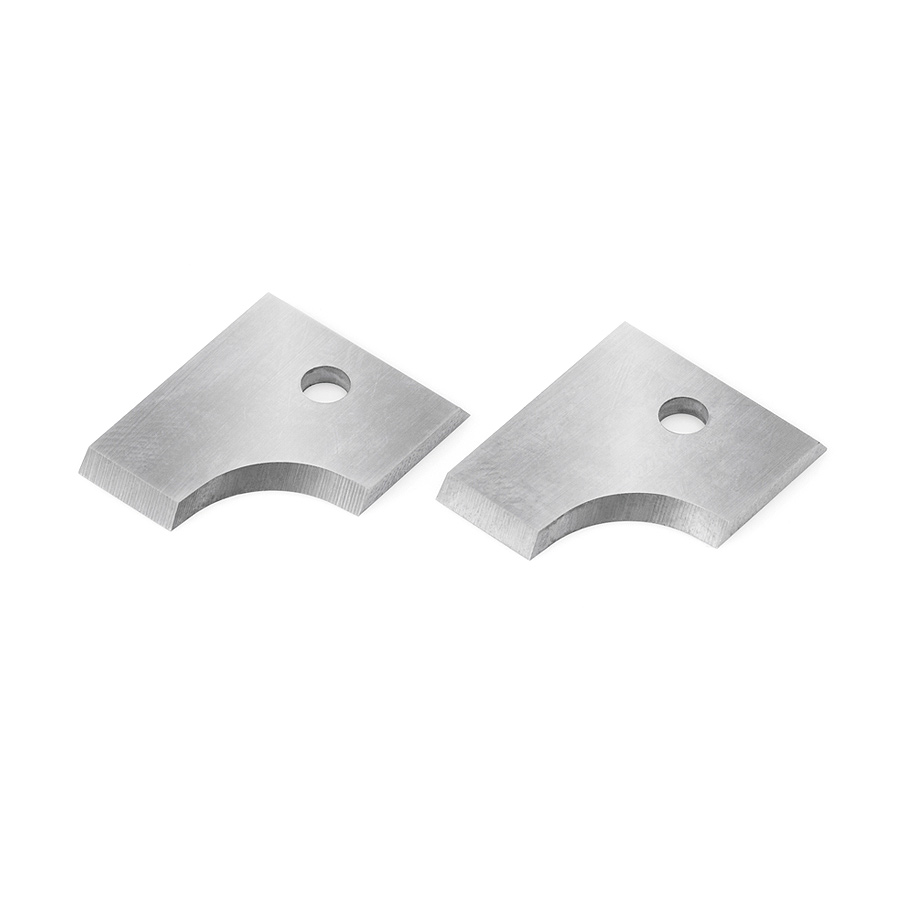 RCK-288 Pair of Solid Carbide Insert Knives 6mm Radius for Double Rounding & Chamfering System RC-2208